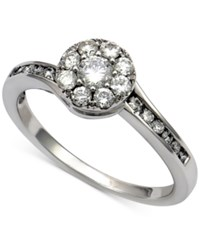 Macy's Diamond Cluster Engagement Ring 5 8 Ct. T.W. In 14K White Gold