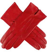 Dents Peccary Effect Leather Gloves Berry