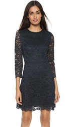 Tory Burch Lace 3 4 Sleeve Dress Med Navy