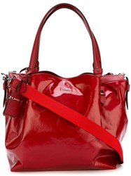 Tod's 'Micro Flower' Tote Red