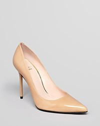 Stuart Weitzman Pointed Toe Pumps Nouveau High Heel Adobe Aniline