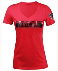 5Th And Ocean Women's Atlanta Falcons Touchback Le T Shirt Red