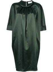 Gianluca Capannolo Pleated Neck Shift Dress Green