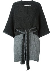 Alice Olivia Two Tone Belted Coat Grey