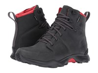 The North Face Thermoball Versa Dark Shadow Grey Tnf Red Men's Lace Up Boots Gray