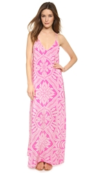 Yumi Kim Summer Night Silk Maxi Dress Pink Abstract Paisley