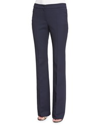 Escada Teneda Flare Leg Trousers Midnight Blue Women's
