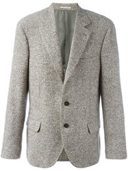 Brunello Cucinelli Tweed Blazer Brown