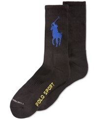 Polo Ralph Lauren Men's Polo Sport Crew Socks Black Royal
