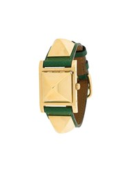 Hermes Vintage 'Medor' Analog Watch Green