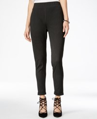 Material Girl Juniors' Pull On Pinstriped Skinny Pants Only At Macy's Black