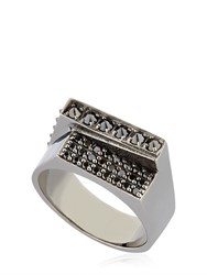 Federico Primiceri Chaos Black Rhodium Plated Ring