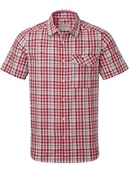 Craghoppers Lomand Short Sleeved Shirt Chilli