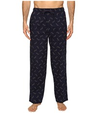 Tommy Bahama Island Washed Cotton Woven Pants Tossed Multi Marlin Navy Men's Pajama Black
