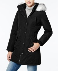 Wildflower Hooded Faux Fur Trim Parka Only At Macy's Black