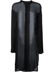 Ilaria Nistri Long Sheer Tunic Black