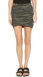 Pam And Gela Ruched Miniskirt Camo