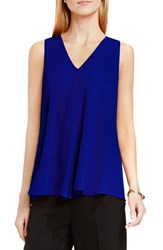 Vince Camuto Women's Drape Front V Neck Sleeveless Blouse