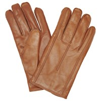 John Lewis Made In Italy Cashmere Lined Leather Gloves Tan