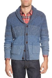 Wallin And Bros 'Ellsworth' Shawl Collar Cable Knit Cardigan Blue