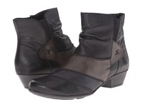 Rieker D7393 Schwarz Cristallino Lake Cristallino Graphite Bogota Women's Dress Boots Black
