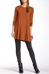 Riller And Fount Long Sleeve A Line Tunic Brown