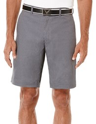 Callaway Flat Front Heathered Pinstripe Tech Shorts Grey