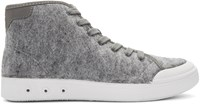 Rag And Bone Grey Wool Standard Issue High Top Sneakers