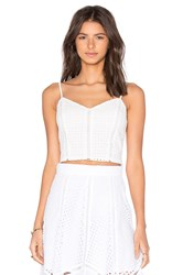 Lucy Paris X Revolve Cropped Cami Top White