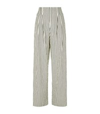 Alice Olivia Eloise Stripe Wide Leg Trousers Female Multi