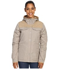 Fjall Raven Greenland No. 1 Down Jacket Fog Sand Women's Coat Beige