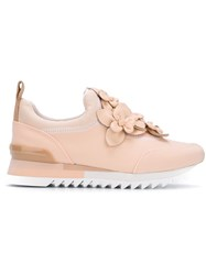Tory Burch Flower Embellished Sneakers Pink And Purple
