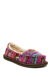 Sanuk Meltdown Fleece Lined Slip On Shoe Pink
