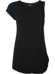 Lost And Found Asymmetric Sleeve T Shirt Black