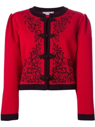 Yves Saint Laurent Vintage Embroidered Cropped Cardigan