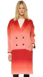 Paul Smith Colorblock Wool Coat Pink