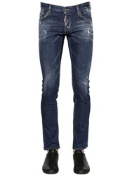Dsquared 18Cm Slim Fit Washed Stretch Denim Jeans