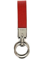 Tod's Metal Rings Key Holder Red
