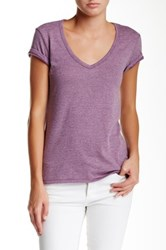 Alternative Apparel The Keepsake V Neck Tee Purple
