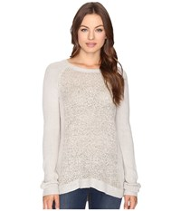 Brigitte Bailey Amber Boucle Front Pullover Mocha Heather Women's Clothing Brown