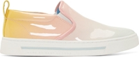 Marc By Marc Jacobs Pink Patent Degrade Cute Kick Slip On Sneakers