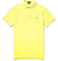 Polo Ralph Lauren Slim Fit Cotton Pique Polo Shirt Yellow