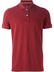 Eleventy Slim Fit Polo Shirt Red