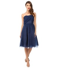 Unique Vintage One Shoulder Cocktail Dress Navy Women's Dress