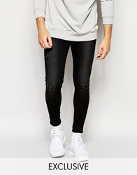Cheap Monday Jeans Mid Spray On Extreme Super Skinny Fit Charcoal Destroyed Rips Grey