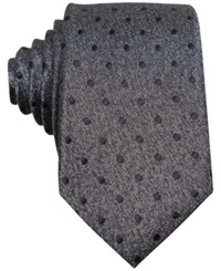 Bar Iii Carnaby Collection Hyde Dot Skinny Tie Charcoal