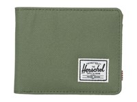 Herschel Hank Deep Litchen Green Tan Pebbled Synthetic Leather Wallet Handbags