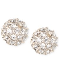 Judith Jack Gold Tone Crystal Cluster Stud Earrings No Color