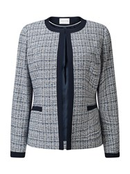 Eastex Contrast Tipped Tweed Jacket Multi Coloured