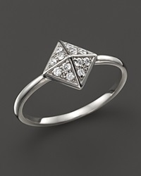 Kc Designs Diamond Pyramid Ring In 14K White Gold .15 Ct. T.W.